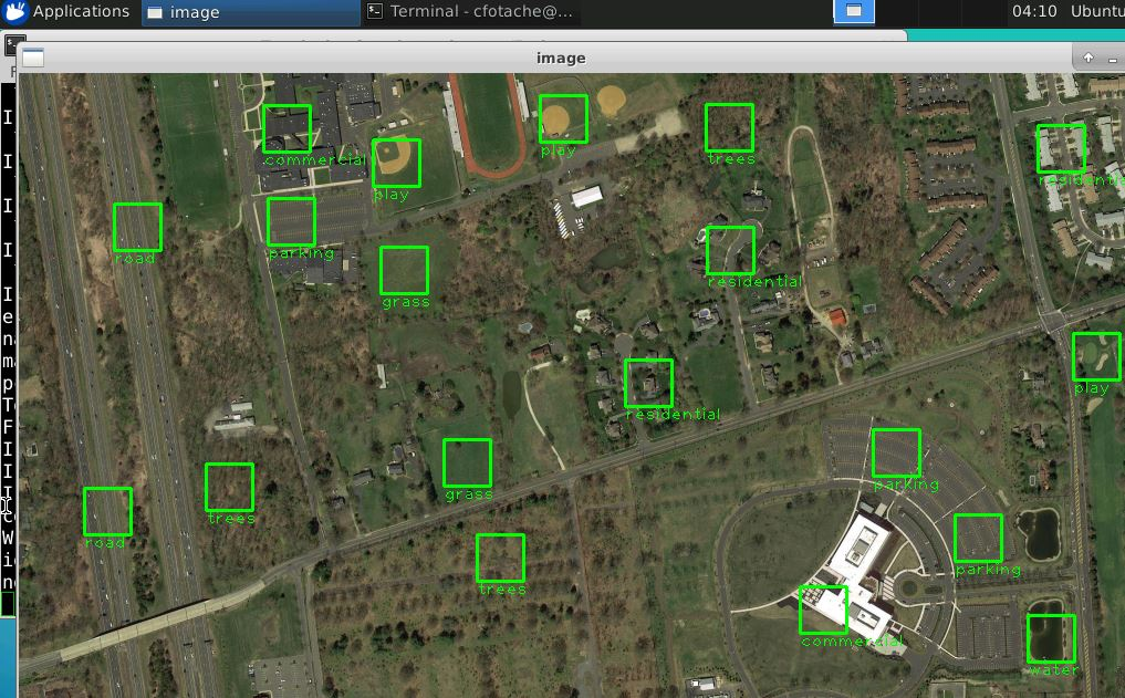 Drone video land features detection